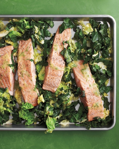 salmon-and-greens